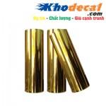 Decal PU in chuyển nhiệt trên vải mầu vàng Gold