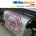 Dịch vụ in decal logo PVC, PU kỹ thuật số
