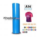 Decal ép nhiệt PVC mầu xanh dương khổ 60cm x 50m sẵn hàng