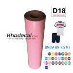 Decal chuyển nhiệt PU mầu hồng nhạt, hồng cánh sen chất lượng cao