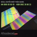Decal phản quang PU 7 mầu khổ 45.6cm x 50m giá tốt giao hàng toàn quốc
